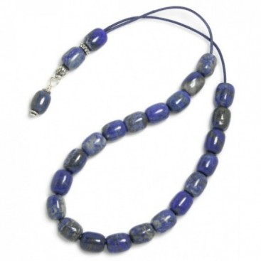 Worry Beads-Komboloi ~ Lapis Lazuli Gemstone - Barrel
