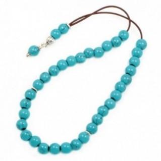 Ladies Prayer Beads-Komboloi ~ Turquoise Gemstone - Round Shape