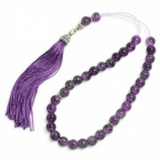 Ladies Prayer Beads-Tasbih-Masbaha-Komboloi ~ Amethyst Gemstone - Round