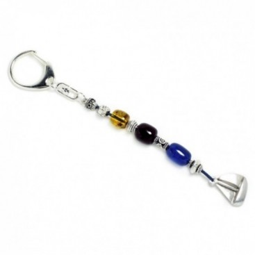 Keyring-Key Chain ~ High Quality Artificial Resin & Sailing Boat