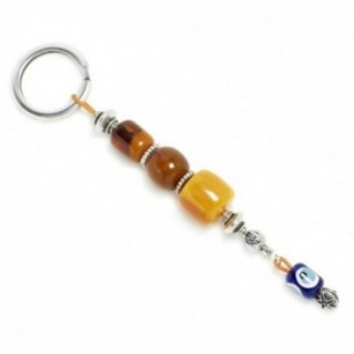 Keyring-Key Chain ~ High Quality Artificial Resin with Evil Eye - C&B