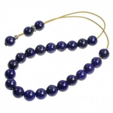 Worry Beads-Komboloi ~ Lapis Lazuli Gemstone - Round