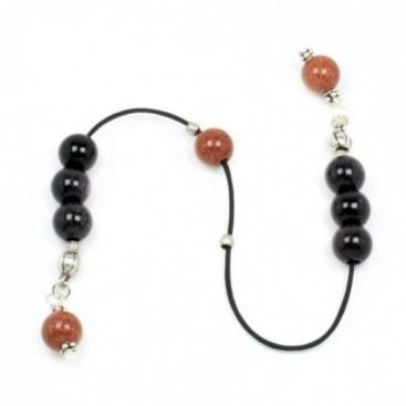 Begleri Beads -Brown & Black Goldstone - Round Shape