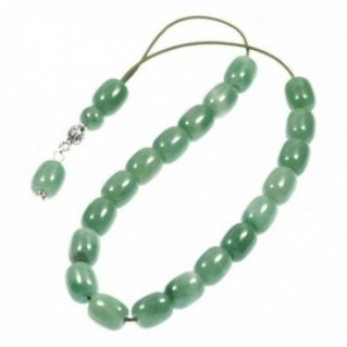 Worry Beads-Greek Komboloi ~ Aventurine Gemstone - Barrel Shape