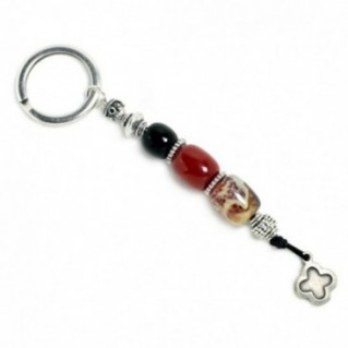 Keyring-Key Chain ~ High Quality Artificial Resin & Cross - B&B&M