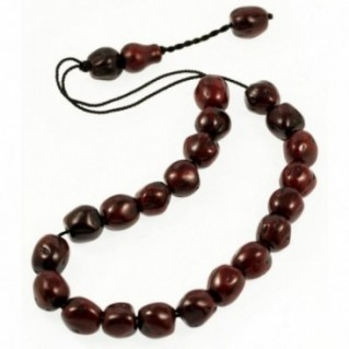 Worry Beads - Greek Komboloi ~ Scented Nutmeg Seeds - Dark Brown