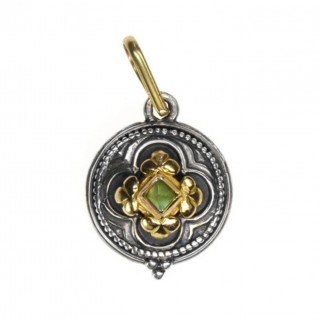 Gerochristo 1212 ~ Solid Gold & Sterling Silver Medieval-Byzantine Pendant