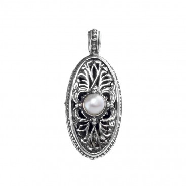 Gerochristo 1214N ~ Sterling Silver & Pearm Medieval-Byzantine Pendant