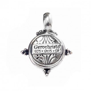 Gerochristo 1245 ~ Sterling Silver & Pearl Medieval-Byzantine Pendant