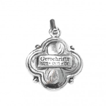 Gerochristo 1181 ~ Sterling Silver & Pearl Medieval-Byzantine Pendant