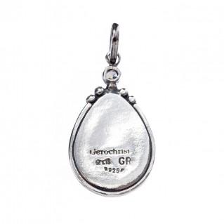 Gerochristo 1366N ~ Sterling Silver & Stones Byzantine Charm Pendant