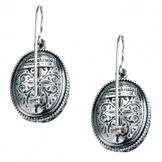 Gerochristo 1373 ~Sterling Silver Medieval-Byzantine Filigree Earrings