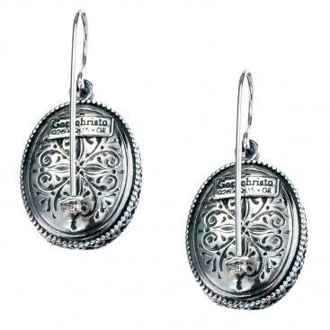 Gerochristo 1373 ~Sterling Silver Medieval-Byzantine Filigree Earrings