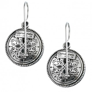 Gerochristo 1375 ~Sterling Silver - Medieval-Byzantine Filigree Earrings
