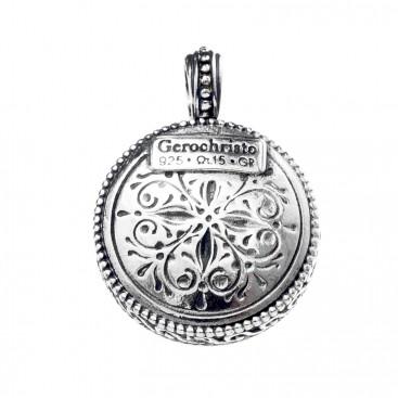 Gerochristo 1375 ~ Sterling Silver - Medieval-Byzantine Filigree Pendant