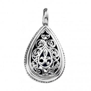 Gerochristo 1385 ~ Sterling Silver - Medieval Byzantine Filigree Pendant