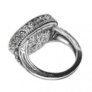 Gerochristo 2397~ Solid Gold & Silver Medieval Byzantine Ring