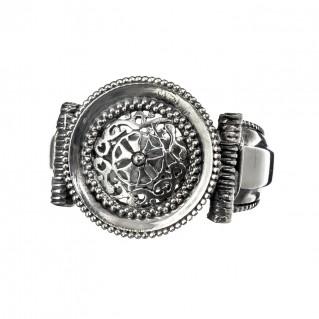 Gerochristo 2572N ~ Sterling Silver Medieval-Byzantine Filigree Ring
