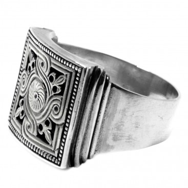 Gerochristo 2580 ~ Sterling Silver Medieval Byzantine Large Ring