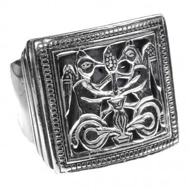 Gerochristo 2585 ~ Sterling Silver Byzantine Large Ring