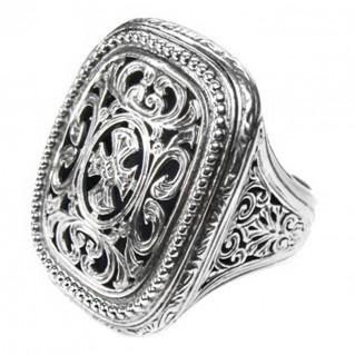 Gerochristo 2603 ~ Sterling Silver Medieval-Byzantine Cross Ring