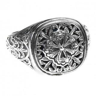 Gerochristo 2616 ~ Sterling Silver Medieval Byzantine Ornate Ring