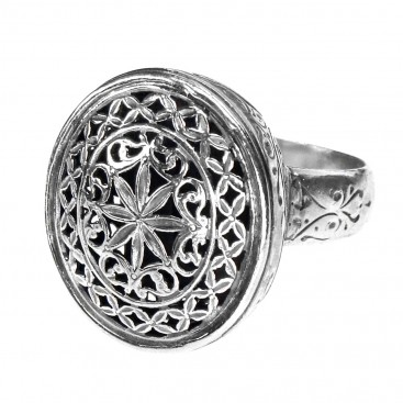 Gerochristo 2628 ~ Sterling Silver Medieval Byzantine Large Ring