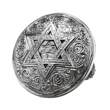 Gerochristo 2628N ~ Sterling Silver - Star of David - Large Ring
