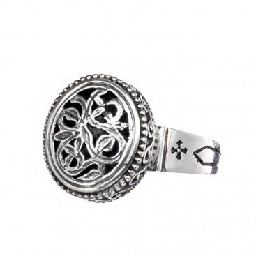 Gerochristo 2700 ~ Sterling Silver Medieval Byzantine Filigree Ring