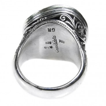 Gerochristo 2718 ~ Solid Gold & Sterling Silver Medieval-Byzantine Ring
