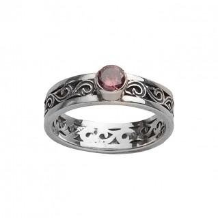 Gerochristo 2718N ~ Sterling Silver Medieval-Byzantine Band Ring