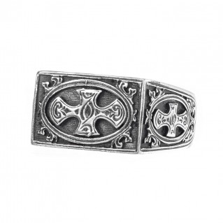 Gerochristo 2757 ~ Sterling Silver Medieval Crosses Ring