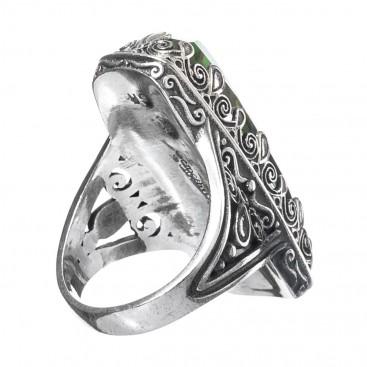 Gerochristo 2873N ~ Quartz over Gemstone Doublet Rectangular Cocktail Ring