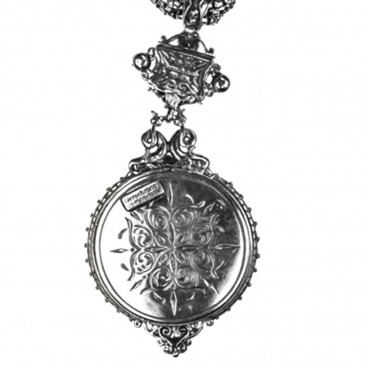 Gerochristo 3109 ~ Solid Gold, Silver & Stones - Medieval-Byzantine Large Pendant
