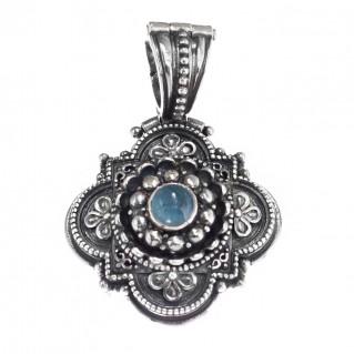 Gerochristo 3138 ~ Sterling Silver & Gemstone Medieval-Byzantine Pendant
