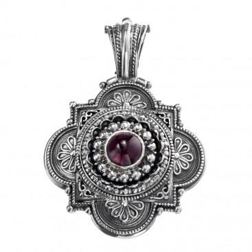 Gerochristo 3140 ~ Sterling Silver Ornate Medieval-Byzantine Pendant