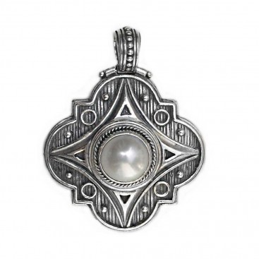 Gerochristo 3141 ~ Sterling Silver & Pearl Medieval-Byzantine Pendant