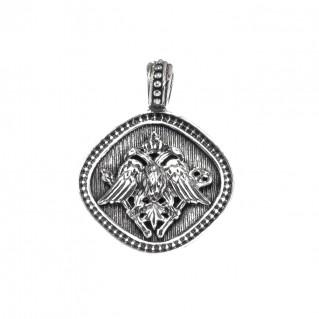 Gerochristo 3195N ~ Double Headed Eagle - Byzantine Sterling Silver Pendant