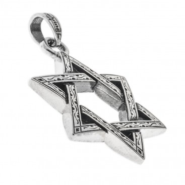 Gerochristo 3220 ~ Sterling Silver Star of David Pendant