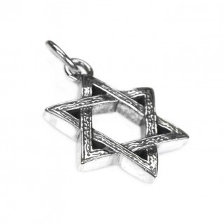 Gerochristo 3228 ~ Sterling Silver Star of David Pendant