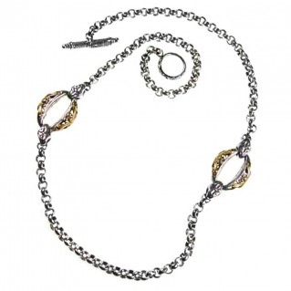 Gerochristo 3303 ~ Solid Gold & Silver ~ Byzantine Medieval Station Necklace