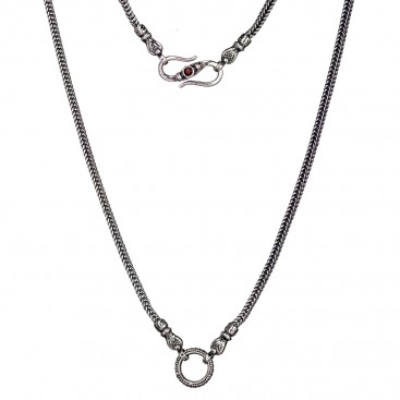Gerochristo 3319 ~ The Single Basic Cable Charms - Byzantine Medieval Chain-Necklace