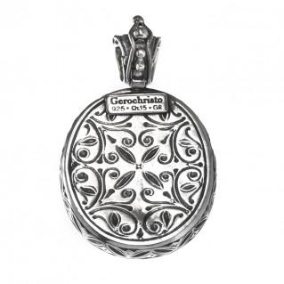 Gerochristo 3342 ~ Sterling Silver Medieval Byzantine Filigree Pendant