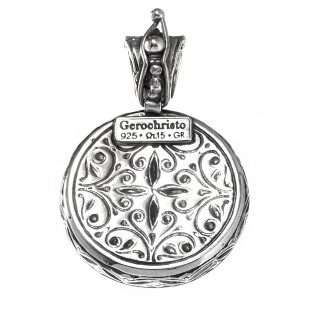 Gerochristo 3353 ~ Sterling Silver Medieval Byzantine Filigree Pendant