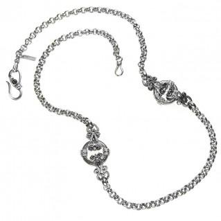 Gerochristo 3369 ~ Sterling Silver Medieval Byzantine Floral Necklace