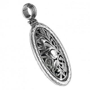 Gerochristo 3372 ~ Sterling Silver Medieval Byzantine Filigree Pendant