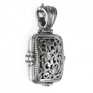 Gerochristo 3373 ~ Sterling Silver Medieval Byzantine Filigree Pendant