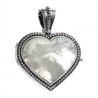 Gerochristo 3441 ~ Sterling Silver Heart Locket Pendant