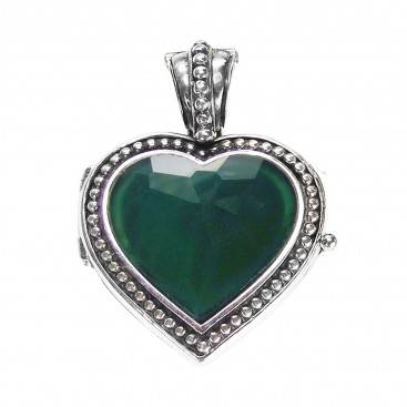 Gerochristo 3442 ~ Sterling Silver Heart Locket Pendant