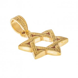 Gerochristo 3453 ~ Gold Plated Silver Star of David Pendant